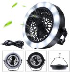 MILIJA LED Camping Lantern With Ceiling Fan